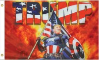 TRUMP Captain America USA Flagge