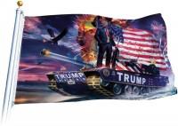 TRUMP Tank Panzer USA Flagge