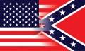 USA - Südstaaten Flagge zusammenlaufend