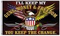 Guns - Money & Freedom Flagge